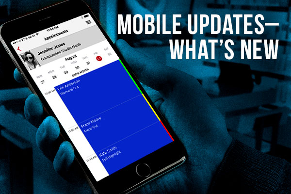 Mobile updates through app shown on Iphone